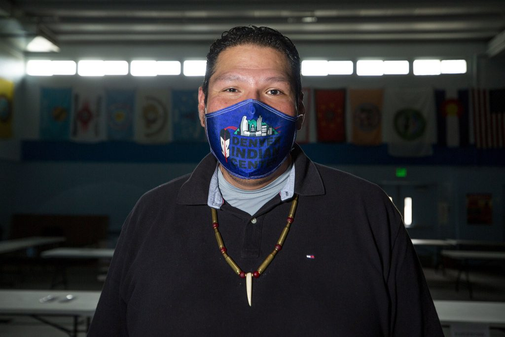 Thomas Allen stands in the gym at the Denver Indian Center in Westwood. May 21, 2021.