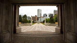 There's not much happening at Civic Center Park on May 27, 2021.