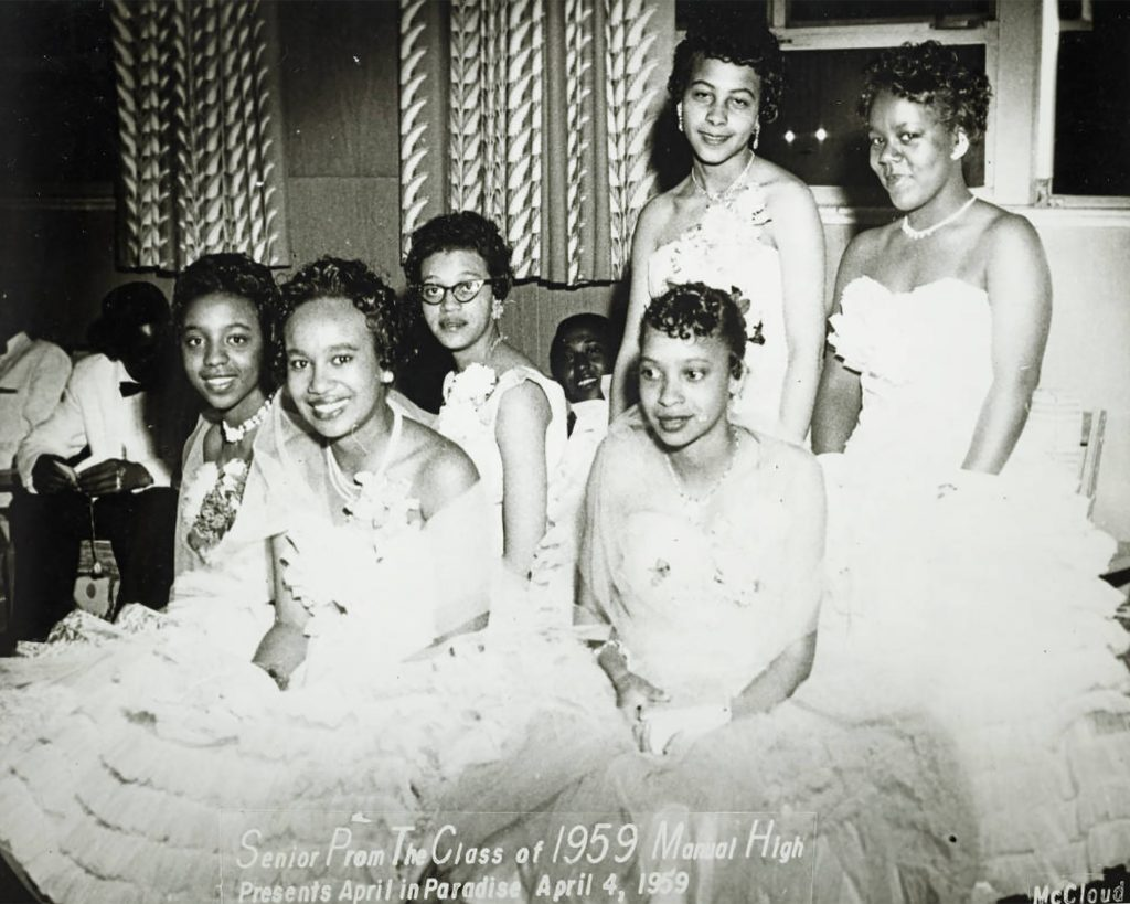 Senior prom for the Manual High School class of 1959.