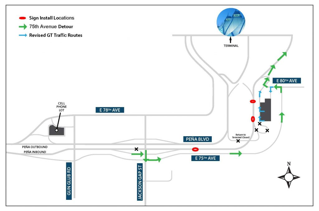 How you can drive to Denver International Airport during construction a few nights this week.