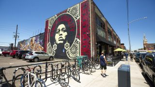 The Denver Central Market is adorned with murals. Five Points, June 3, 2021.