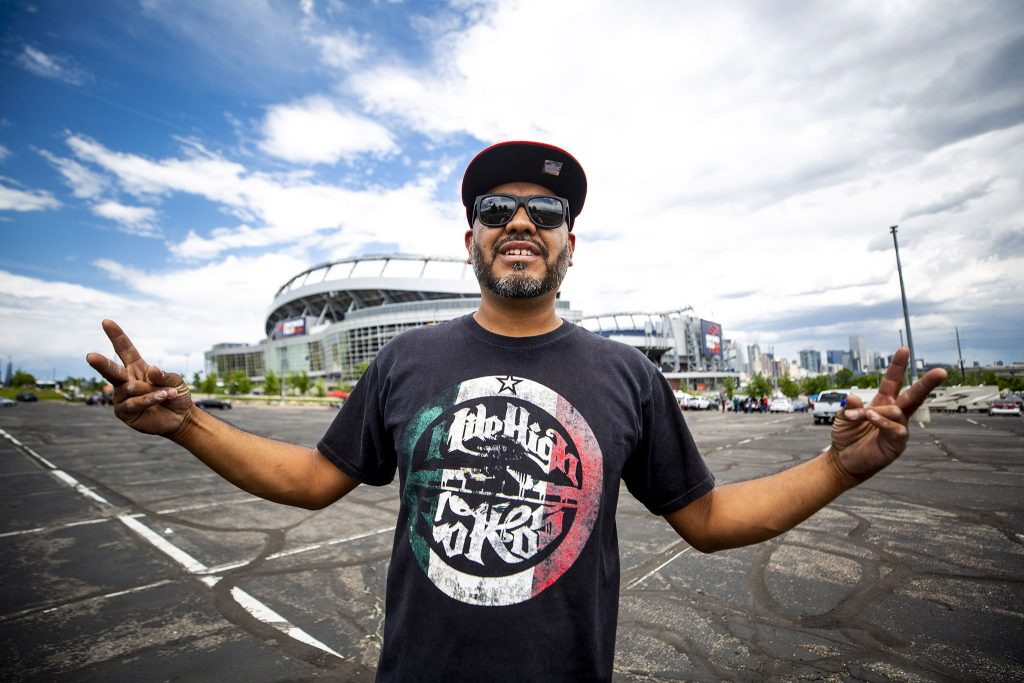 Miguel Si Fuentes came to Mile High Stadium to root on Mexico's national team before they face off with the United States in the CONCACAF Nations League finals. June 6, 2021.
