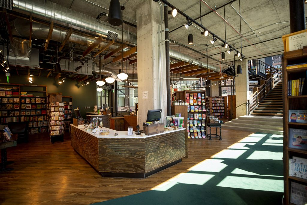 The Tattered Cover's new location at McGregor Square. June 8, 2021.