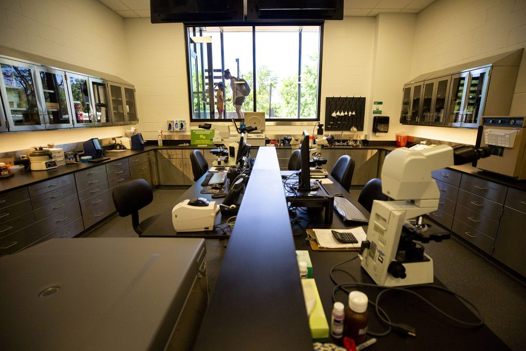 A lab inside the Denver Zoo's new animal hospital. June 12, 2021.