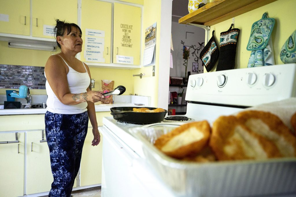 Carla Respects Nothing makes fixings to feed more than 50 people in her West Colfax home. June 10, 2021.