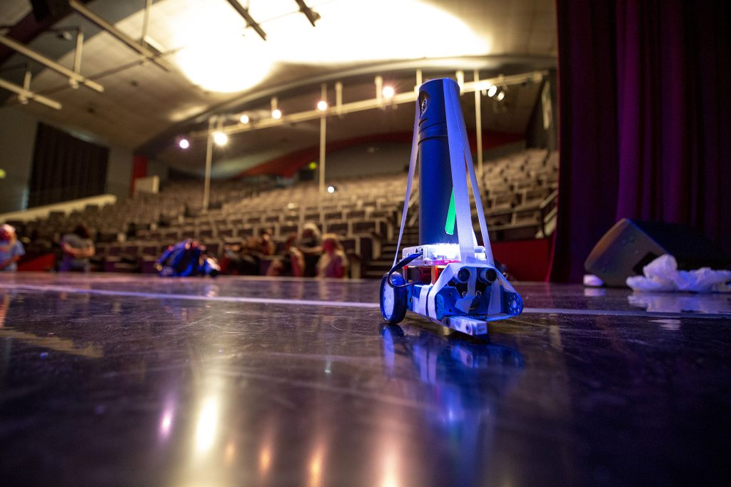 A robots that kids from Cleo Parker Robinson Dance's STREAM Theatre program used to film dancers on the company's main stage. June 11, 2021.