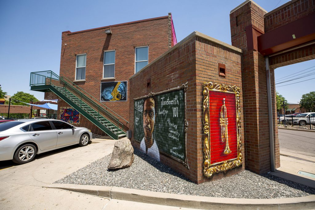 The Five Points Outdoor Mural Gallery at Five Points Plaza on Welton Street. June 15, 2021.
