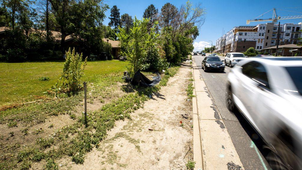 Sheridan Boulevard, looking south from 17th Avenue. June 15, 2021.