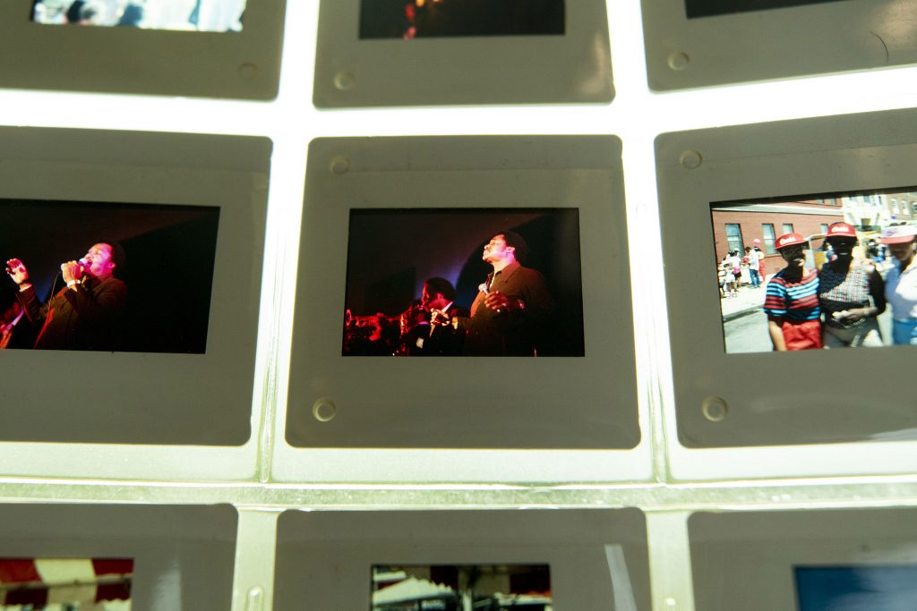 Photo slides from  Juneteenth, 1983.