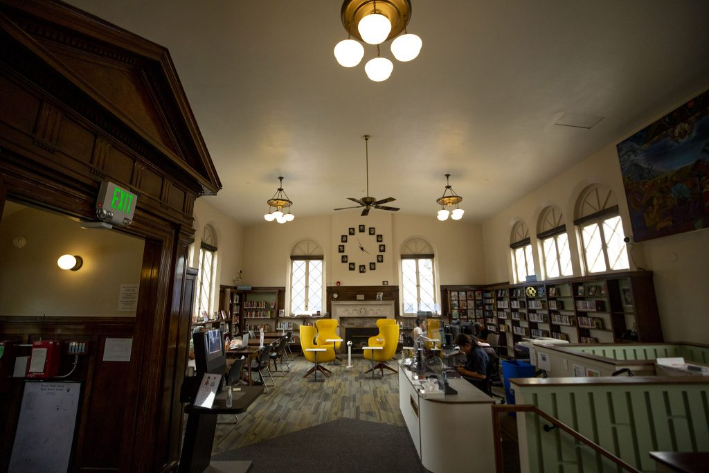 Inside the newly renovated Denver Public Library Byers Branch on Santa Fe Drive. June 18, 2021.