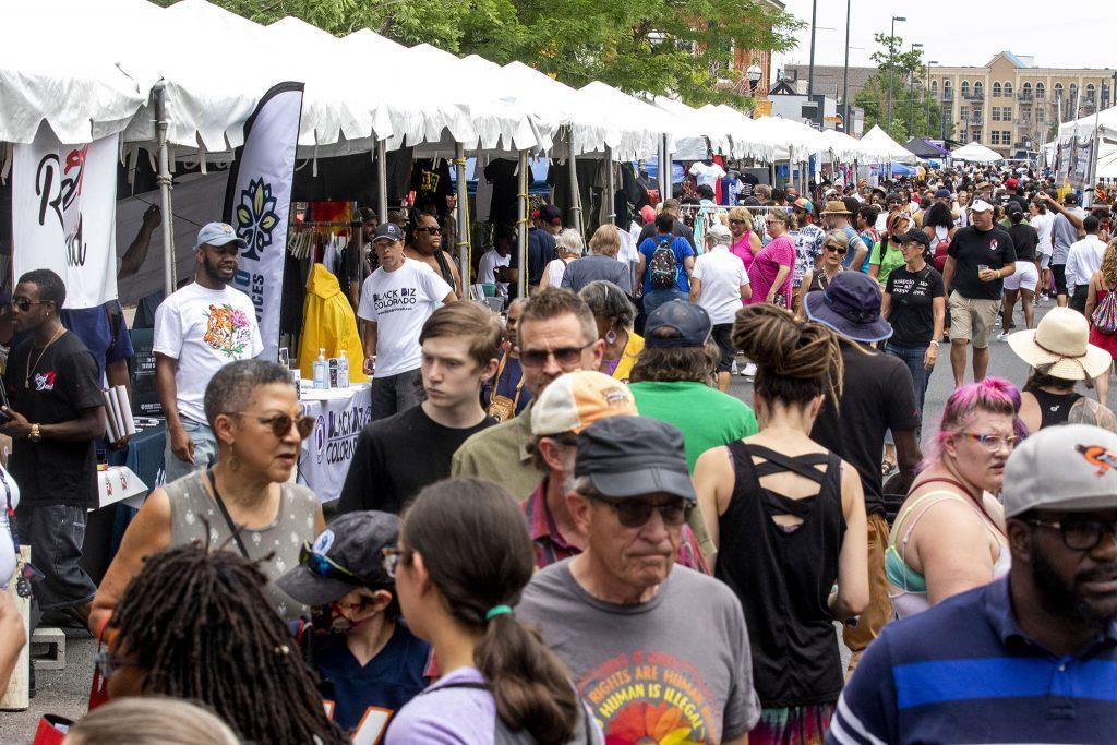 The Juneteenth Music Festival takes over Welton Street in Denver's Five Points Neighborhood. June 19, 2021.