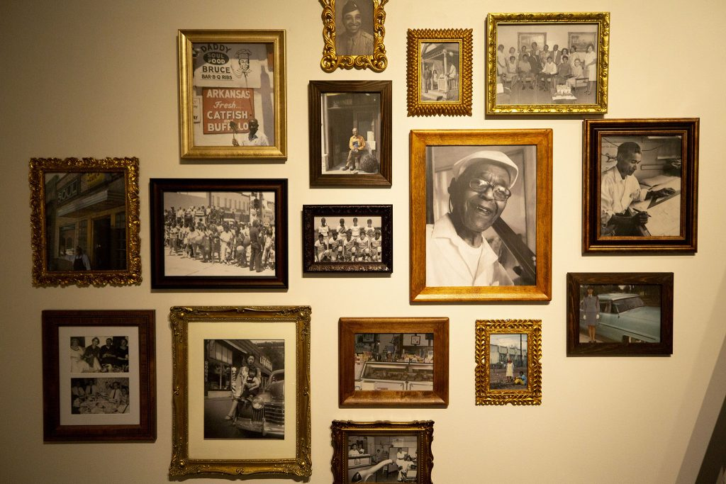 Old photos on the wall inside the Five Points Plus: Neighborhood Memory Project exhibit at the History Colorado Center. June 23, 2021.