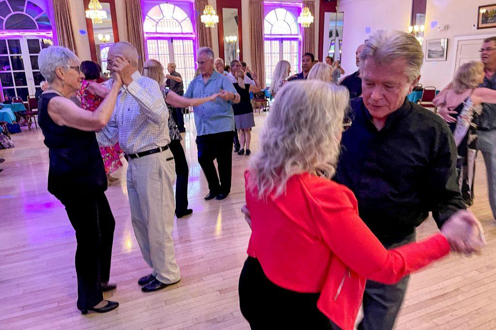 Dancers practice the foxtrot at the Denver Turnverein. June 5, 2021.