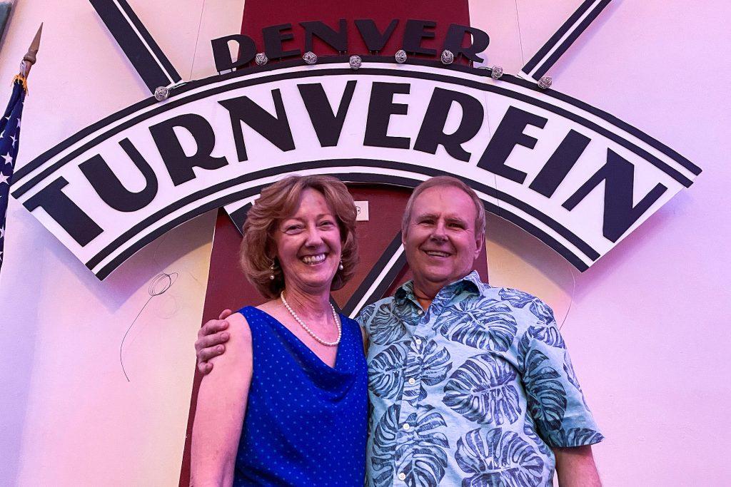 Denver Turnverein president Art Abington and his partner, Suzanne Hunt. June 5, 2021.
