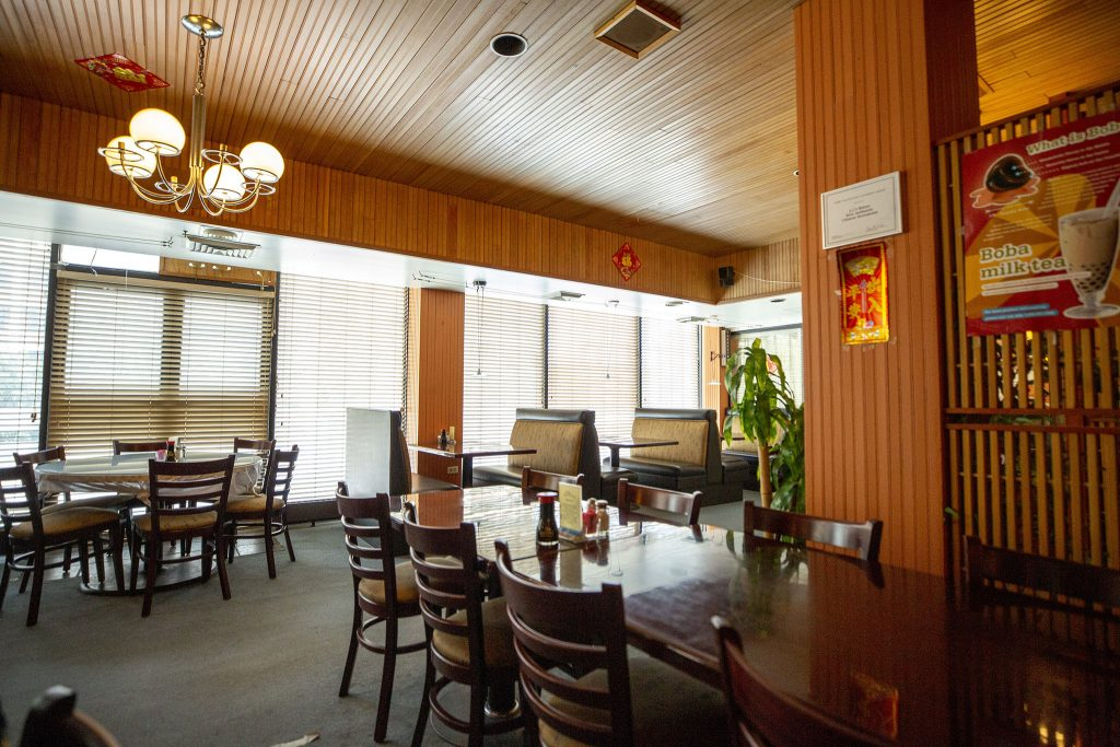 JJ's Bistro, on the second floor of Sakura Square downtown. July 12, 2021.