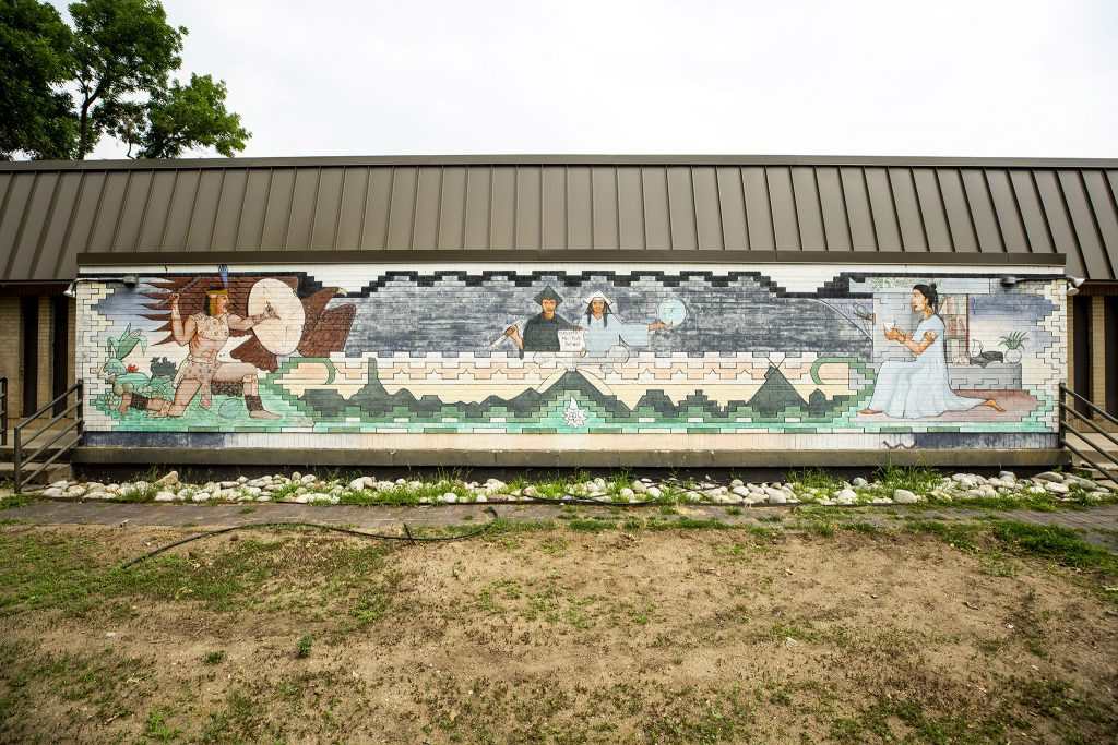 A mural on the wall of the Denver Inner City Parish in La Alma/Lincoln Park. July 13, 2021.