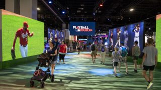 """The """"Play Ball"""" exhibition at the Colorado Convention Center. July 13, 2021."""