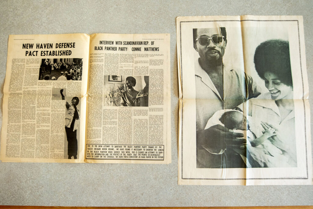 An issue of The Black Panther from Oct. 18, 1969, which was recently added to the Blair-Caldwell African American Research Library's collections. Photographed July 22, 2021.