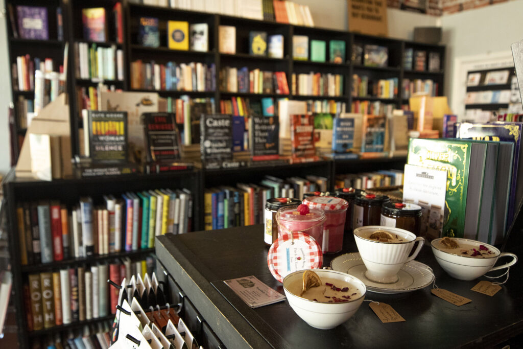 Books and gifts for sale at Bookbar. Tennyson Street, July 24, 2021.