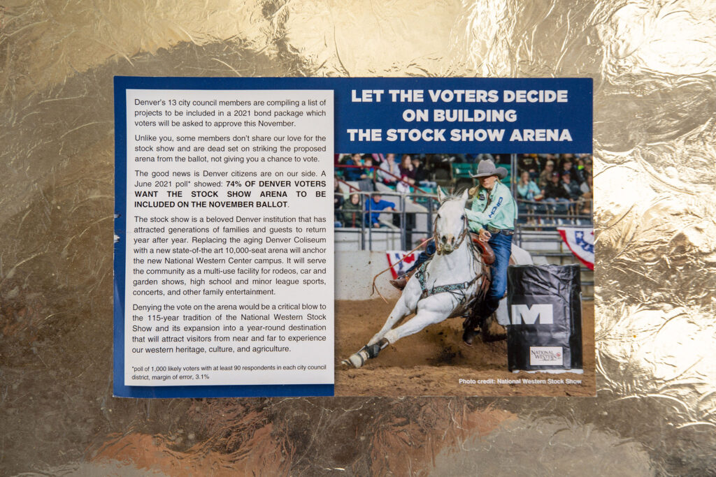 A postcard that was delivered to Pancho Espino's house this week. July 28, 2021.