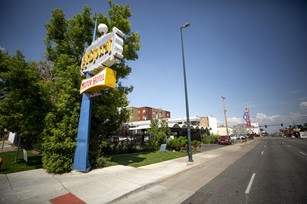 Colfax Avenue's old Aristocrat Motor Hotel is now the Volunteers of America Family Motel. July 29, 2021.