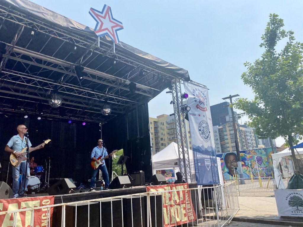 The Tuesday Night Sound Club performs at the Stars & Stripes Streetfest in Ballpark. July 12, 2021.