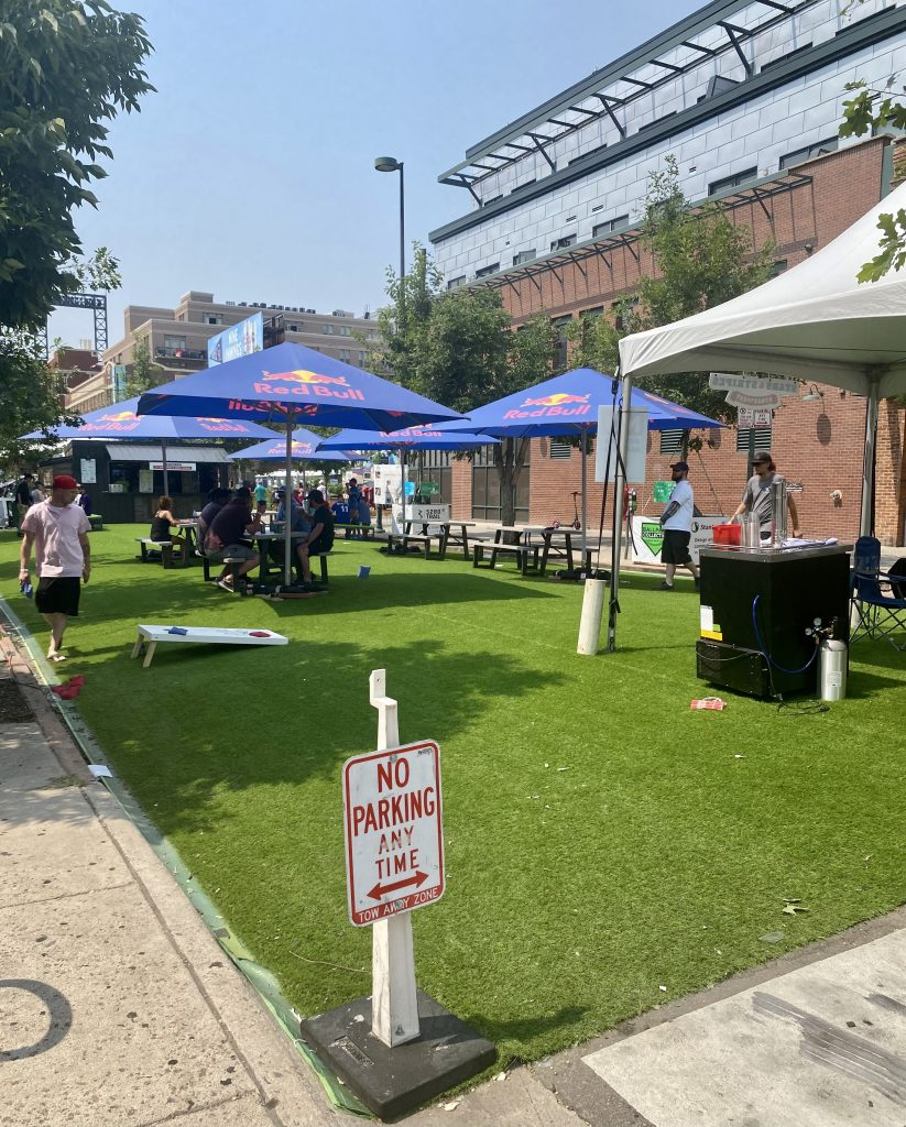 A pop-up park at the Stars & Stripes Streetfest in Ballpark. July 12, 2021.