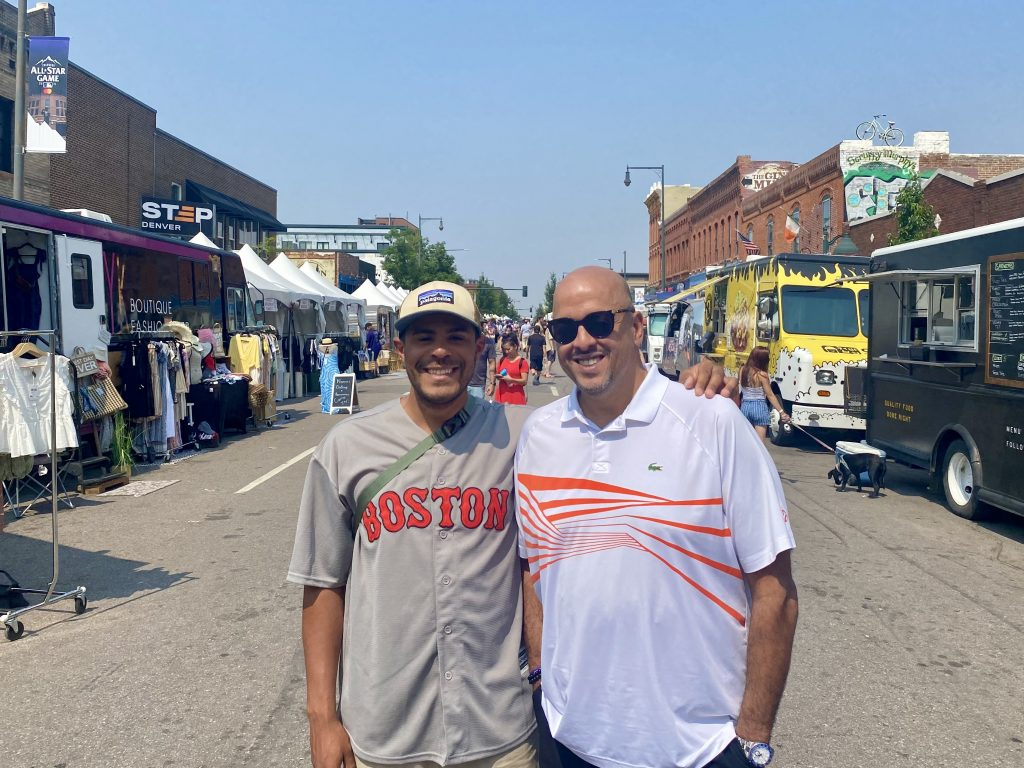 Kevin Tejada and Edgar Mercedes at the Stars & Stripes Streetfest in Ballpark. July 12, 2021.