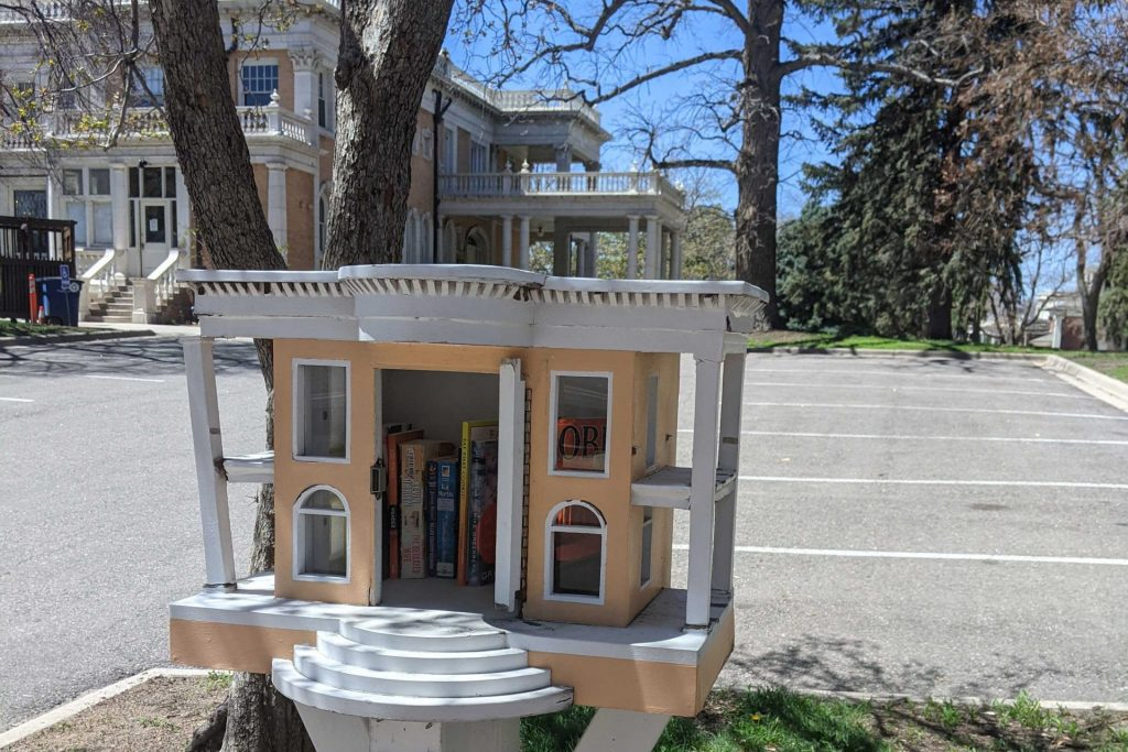 Little Grant-Humfree Library outside Grant-Humphreys Mansion in Capitol Hill.