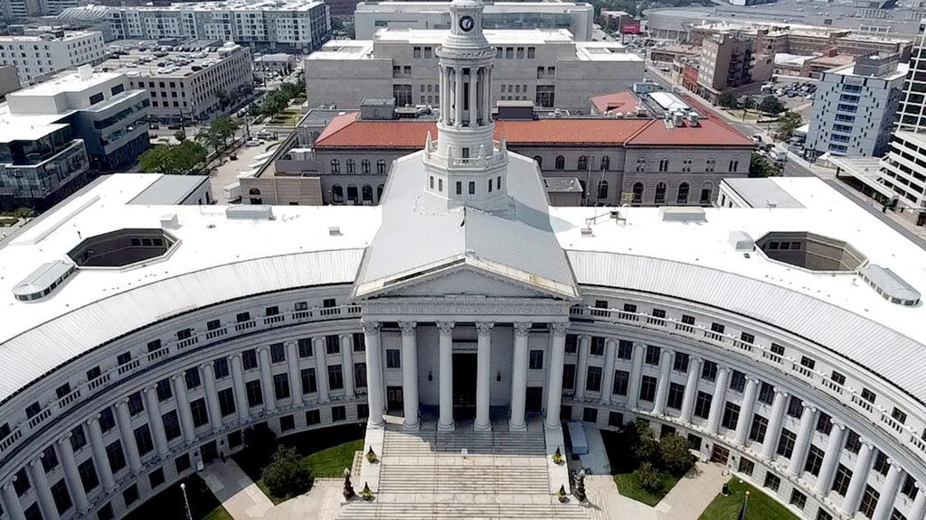 Denver's City and County Building. Aug. 10, 2021. (Kevin J. Beaty/Denverite)