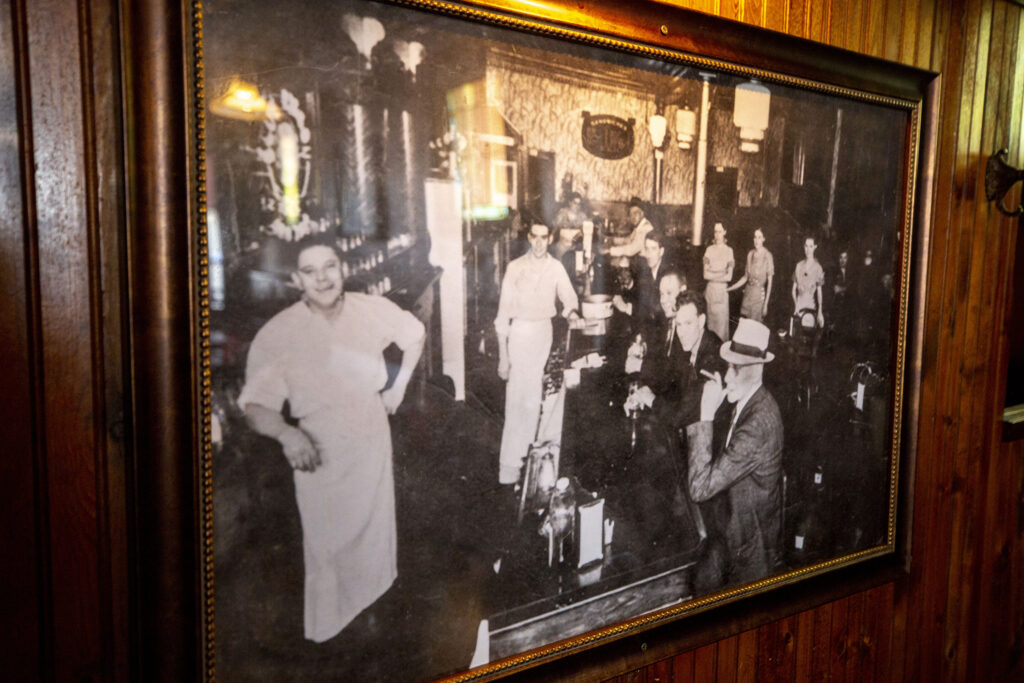 An old photo of My Brother's Bar inside My Brother's Bar. Highland, Aug. 13, 2021.