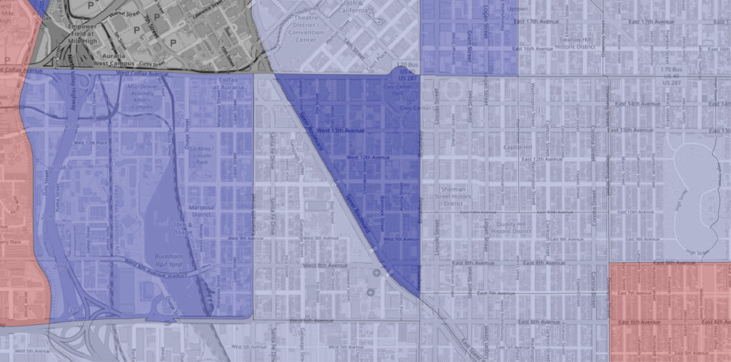 """The """"golden triangle"""" area saw a large uptick in available housing between 2010 and 2020."""