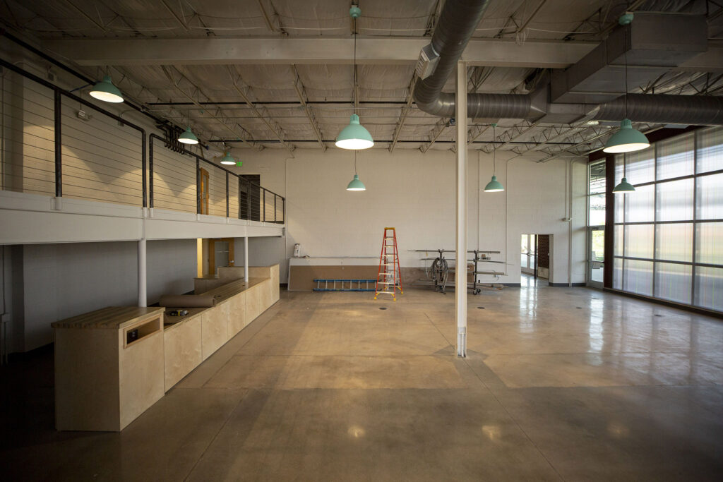 A future Denver Public Library branch at the ArtPark Community Hub, off Brighton Boulevard in RiNo. Five Points, Aug. 19, 2021.