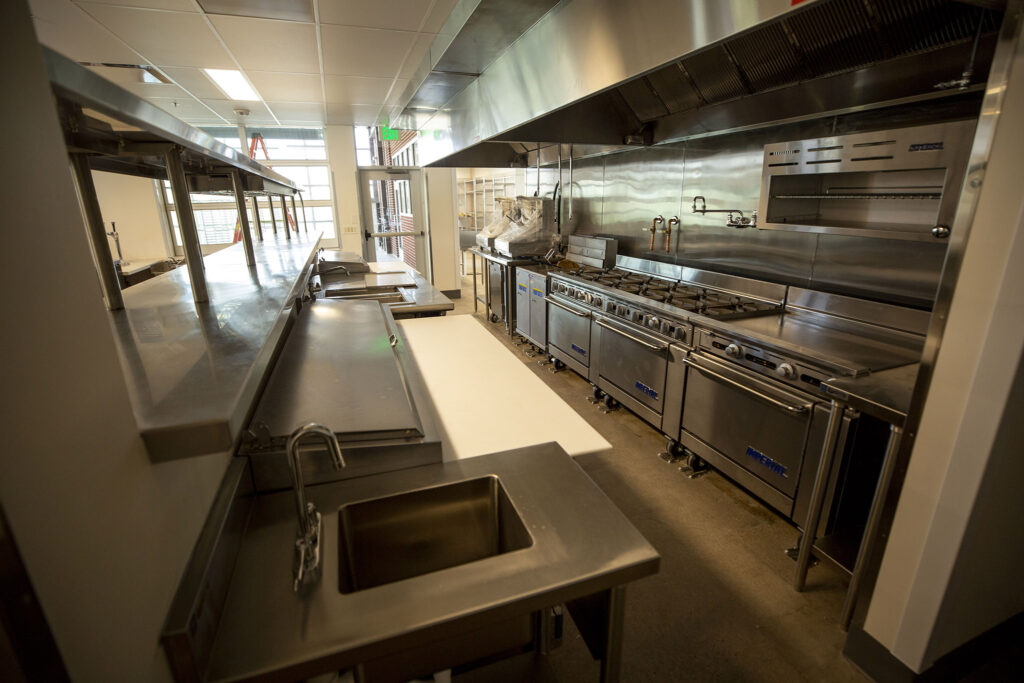 Kitchen gear inside CoCuA, a entrepreneurial space at the ArtPark Community Hub off Brighton Boulevard in RiNo. Five Points, Aug. 19, 2021.