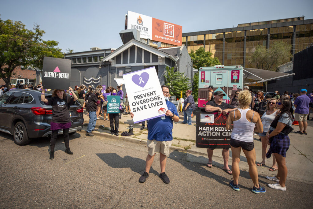 Overdose Awareness Day at the Harm Reduction Action Center on Lincoln Street. Aug. 31, 2021.