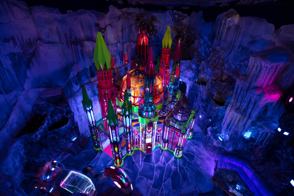 The Cathedral deep within Meow Wolf's Ice World, Denver.