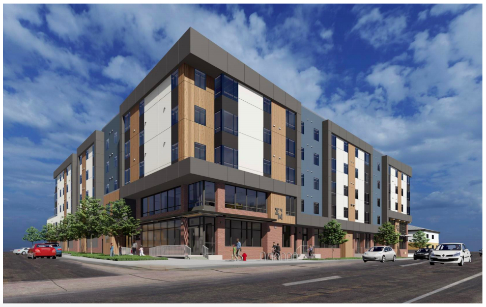 A rendering of the apartment complex called The Rose on Colfax. (Courtesy of the City and County of Denver)