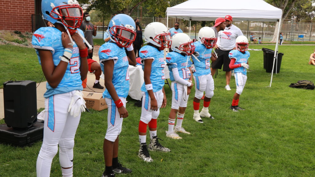 The Park Hill Pirates Youth Organization football team.