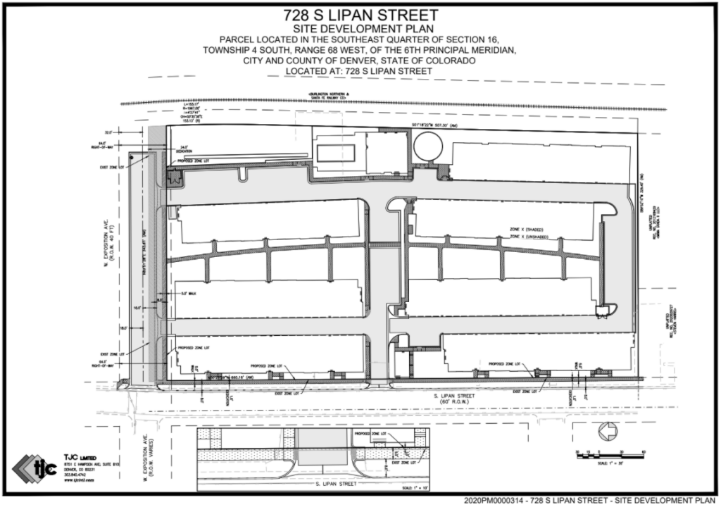 The current site development plan for 728 S. Lipan St. (City of Denver)