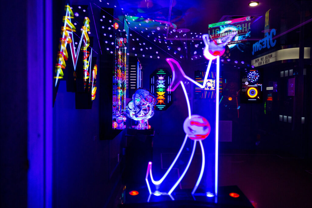 A gallery containing work by Denver's Lumonics collective inside Meow Wolf Denver: Convergence Station. Sept. 13, 2021.