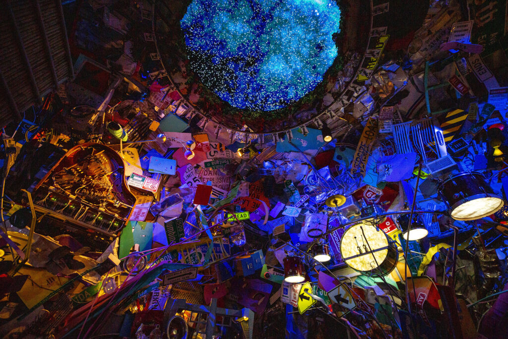 A musical room that Meason Wiley, director of R and D for Meow Wolf Denver, helped construct. Sept. 13, 2021.