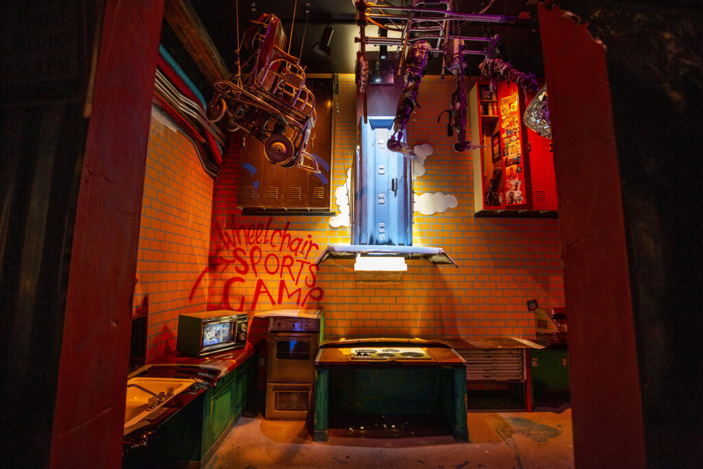 Wheelchair Sports Camp's room inside Meow Wolf Denver: Convergence Station. Sept. 13, 2021.