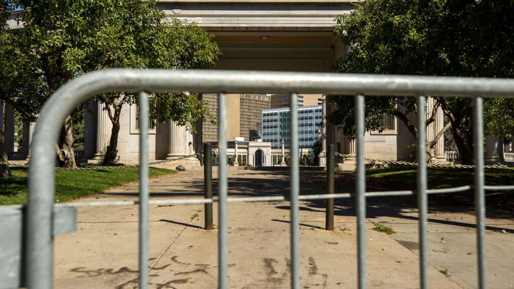 Civic Center Park is closed. Sept. 15, 2021.