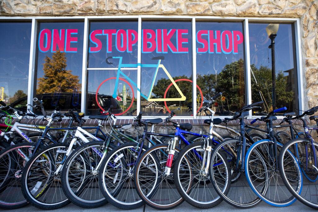 One Stop Bike Shop on Morrison Road. Westwood, Sept. 21, 2021.