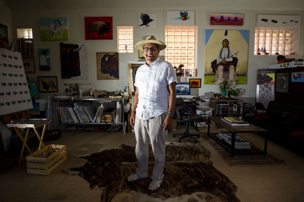 Arturo Garcia stands in his Morrison Road Studio. Sept. 22, 2021.
