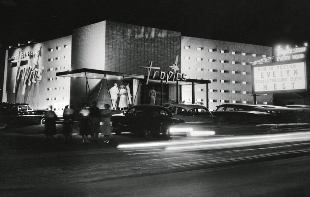 The Warren St. Thomas Nightclub on Morrison Road in Westwood, circa 1950.