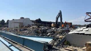 The Kmart at 1250 S Monaco Parkway undergoing demolition on Sept. 17.