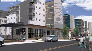Rendering of Decatur Fresh at the Gateway complex.