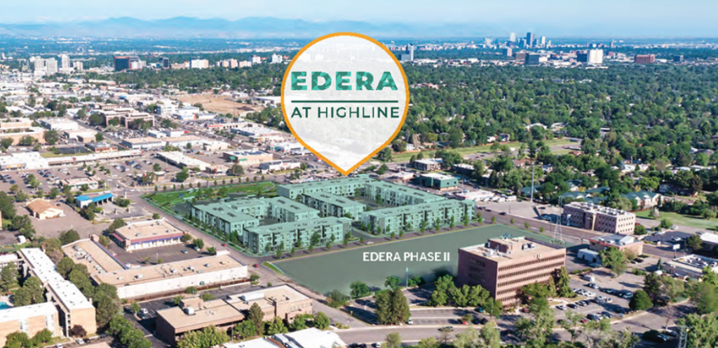 An aerial rendering of the new residential complex.