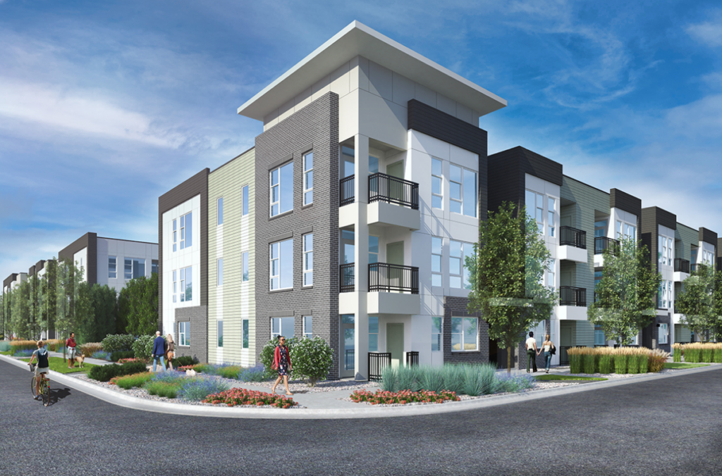 A rendering of what the apartment complex may look like.